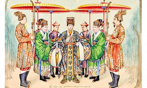 Bộ tranh quý về sắc phục triều Nguyễn