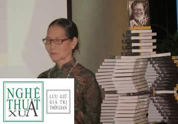 185 14 Bà Kim Loan, người vợ chung thủy của họa sĩ Chóe, tại buổi tưởng niệm 10 năm ngày mất của ông sáng 12-3-2013