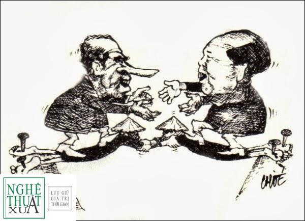 185 8 Nixon&Mao Chóe phác họa sự thông đồng giữa Hà Nội và Hoa Kỳ trong Hòa Đàm Ba Lê năm 1973
