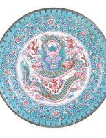Đĩa Pháp Lam Trung Quốc, kí kiểu? tk 19, giá ước lượng 300-500$