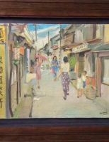 """Bức tranh """"Phố cổ Nara"""" của cố họa sĩ Lương xuân Nhị"""