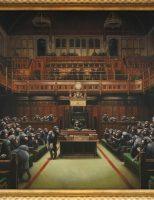 Tác phẩm nghệ thuật của Banksy miêu tả Tinh Tinh như các Nghị sĩ kỳ vọng phá vỡ kỷ lục đấu giá của họa sĩ.