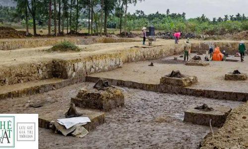 Phát hiện bãi cọc nhà Trần gần nghìn năm tuổi
