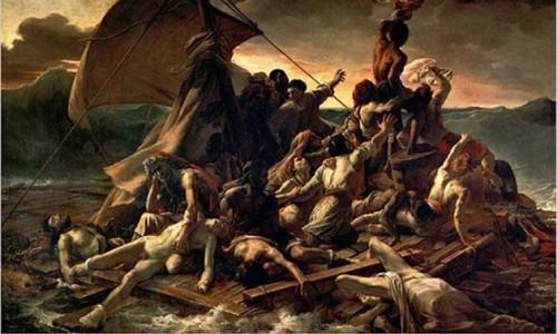 """Bức tranh """"Chiếc bè của chiến thuyền Méduse"""""""