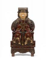 Tượng gỗ sơn son, thế kỷ XIX, giá ước lượng 500-600 EUR