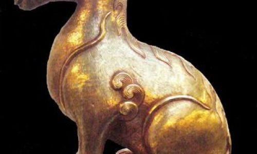 Tượng giải trãi bằng vàng thời Minh Mang