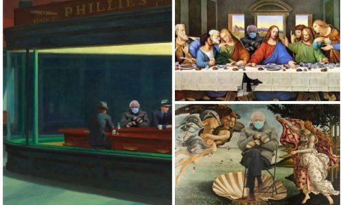 Cơn sốt ông già Sanders lan rộng trong giới nghệ thuật