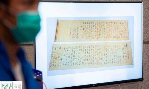 Cảnh sát Hồng Kông tìm thấy cuộn thư pháp của Mao bị đánh cắp trong vụ trộm tác phẩm nghệ thuật trị giá 645 triệu đô la